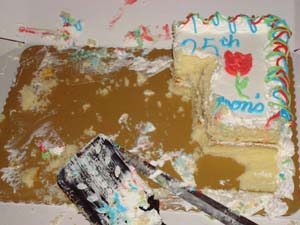 Photo of cake almost gone